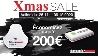 Xmas SALES - valide du 26.11 - 06.12.2020 - Economisez jusqu'à 200 € - DATACOLOR Spyder X